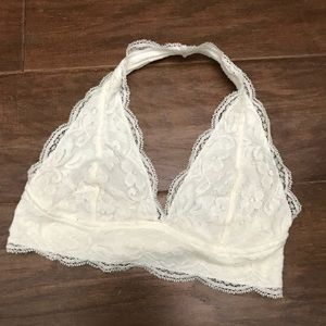 Halter bra (M) 34B lace super soft